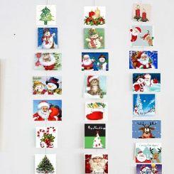 Feestdagen kaarten ophangset voor 20 kaarten