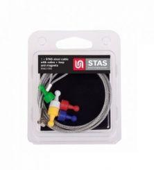 STAS Magneet set gekleurd met staalkabel 2 in 1